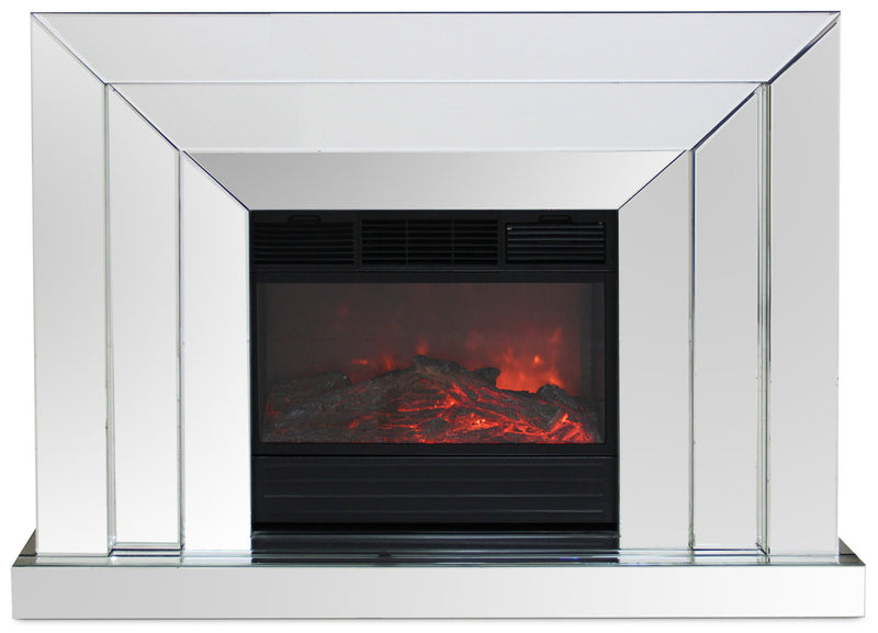 Mia Mirrored Fireplace