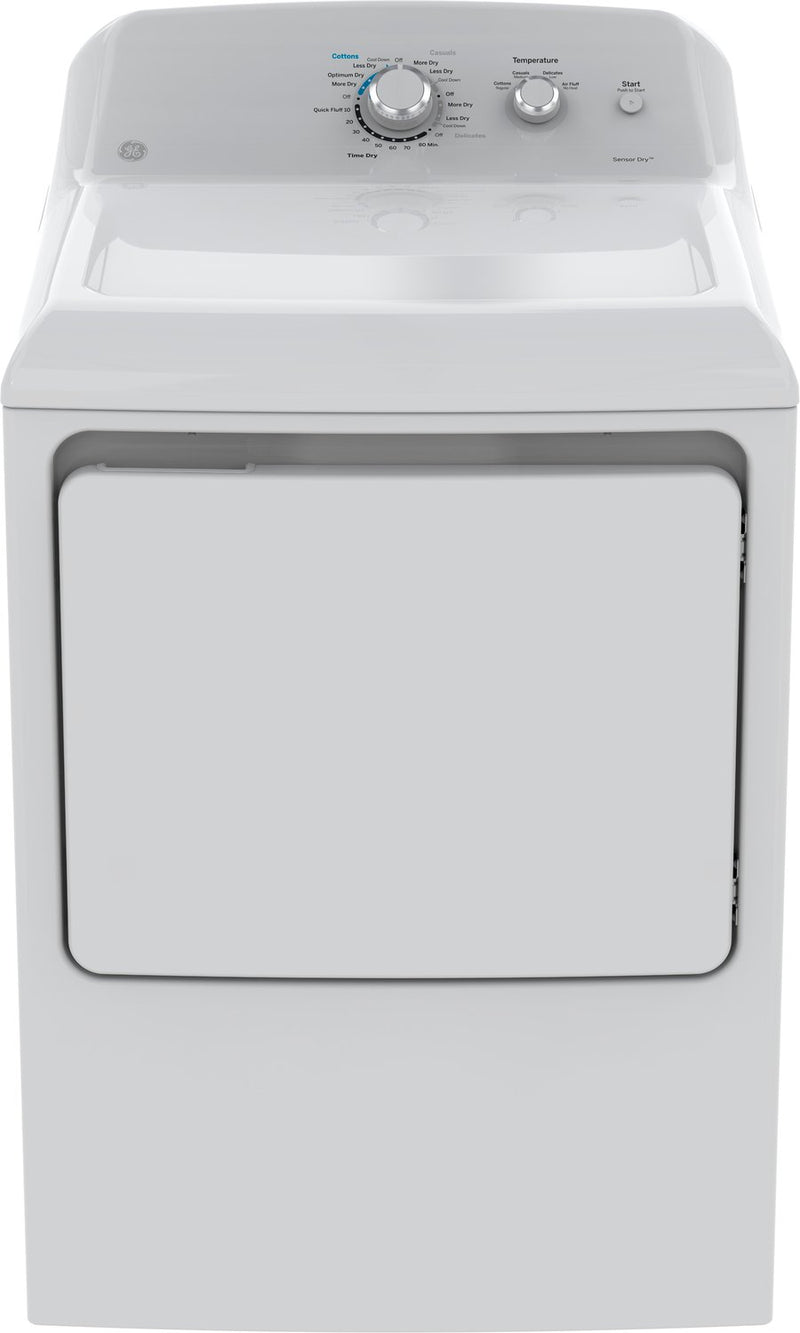GE White Electric Dryer (7.2 Cu. Ft.) - GTD40EBMKWW
