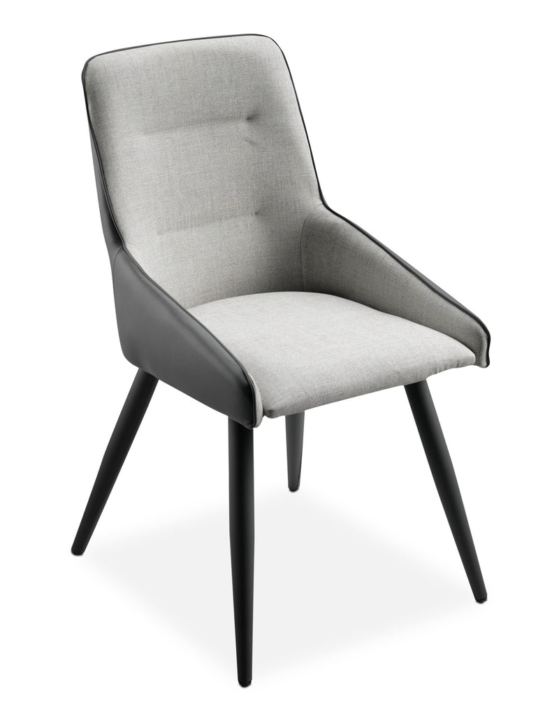 Gina Side Chair - Beige and Grey
