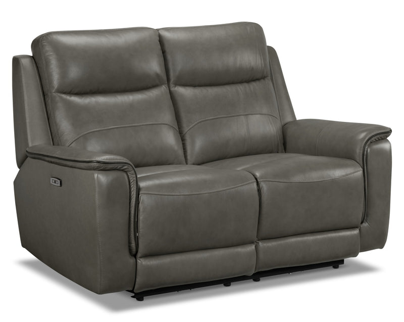 Firenze Power Reclining Loveseat - Grey