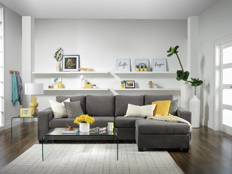 Danielle 2-Piece Sectional with Right-Facing Chaise - Grey