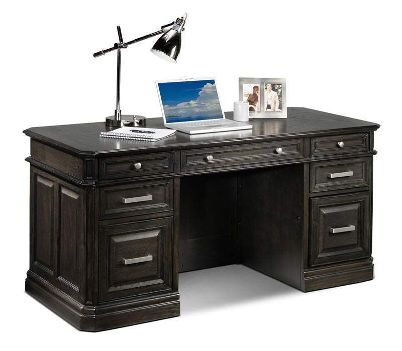 Copley 3-Piece Executive Desk - Deep Grey