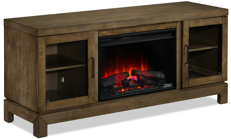 Berkeley Fireplace TV Stand - Grayish Brown