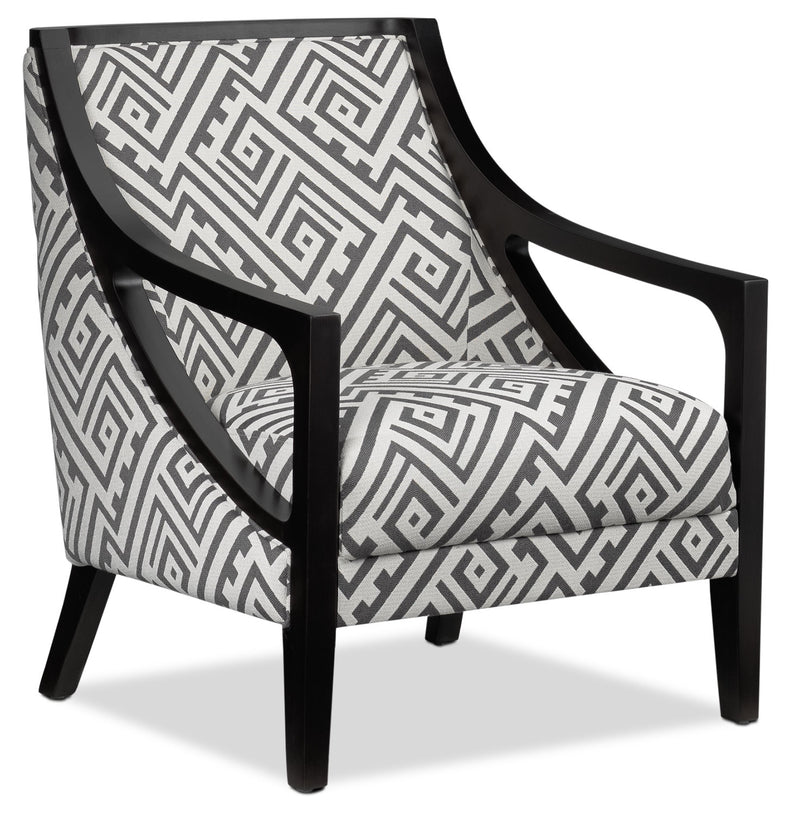 Rowena Accent Chair - White and Grey