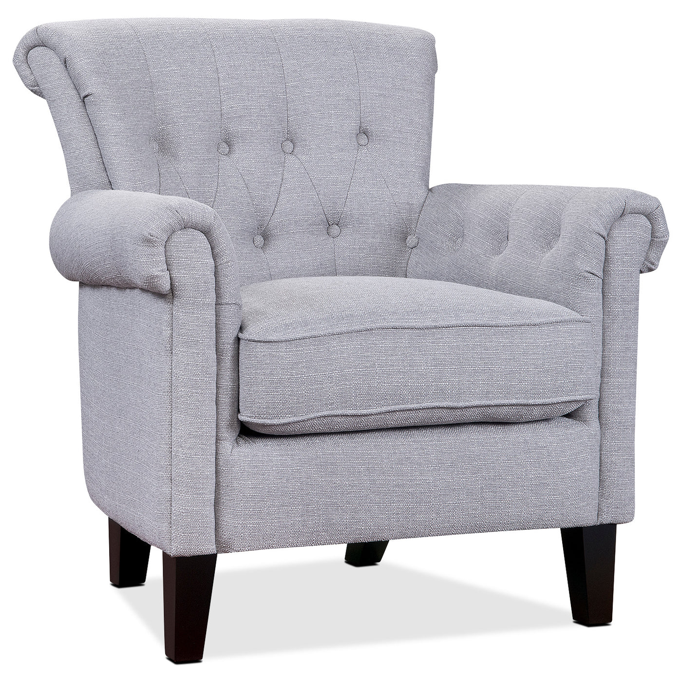 Light Grey Accent Chair: Molly Accent Chair - Light Grey