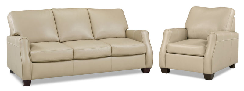 Talbot Sofa and Chair Set - Warm Beige