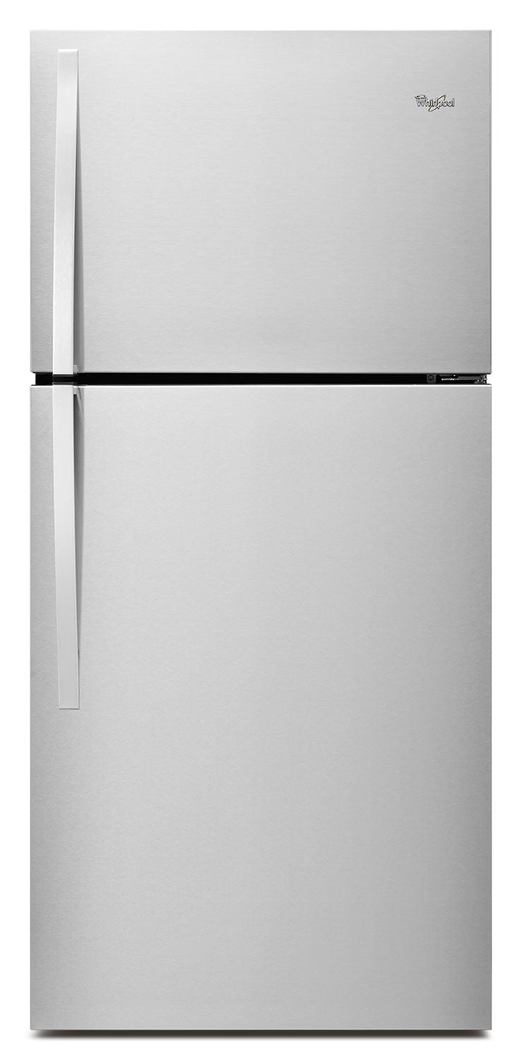 Whirlpool Monochromatic Stainless Steel Top-Freezer Refrigerator (19.2 Cu. Ft.) - WRT519SZDM