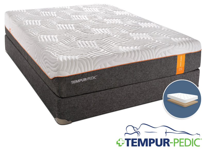 Tempur-Pedic Devote Firm Full Mattress and Low-Profile Boxspring Set