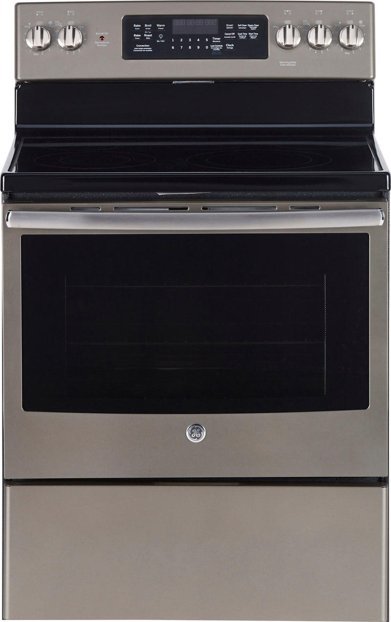 GE Slate Freestanding Electric Convection Range (5.0 Cu. Ft.) - JCB840EKES