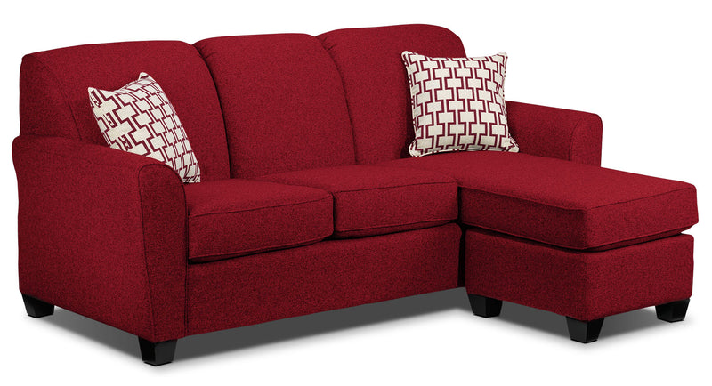 Ashby Chaise Sofa - Red