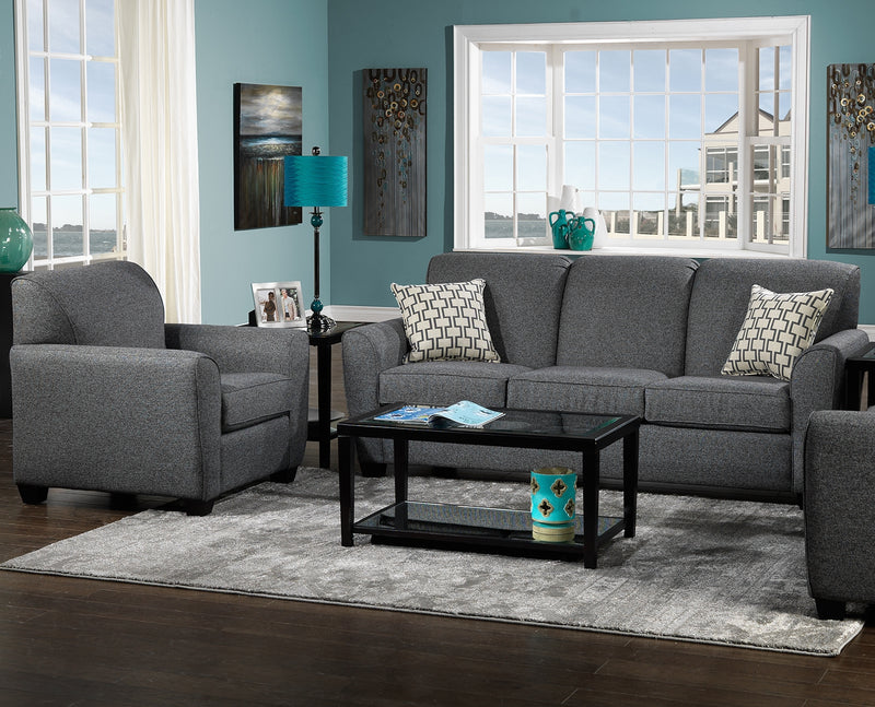 Ashby 2 Pc. Living Room Package w/ Chair - Grey