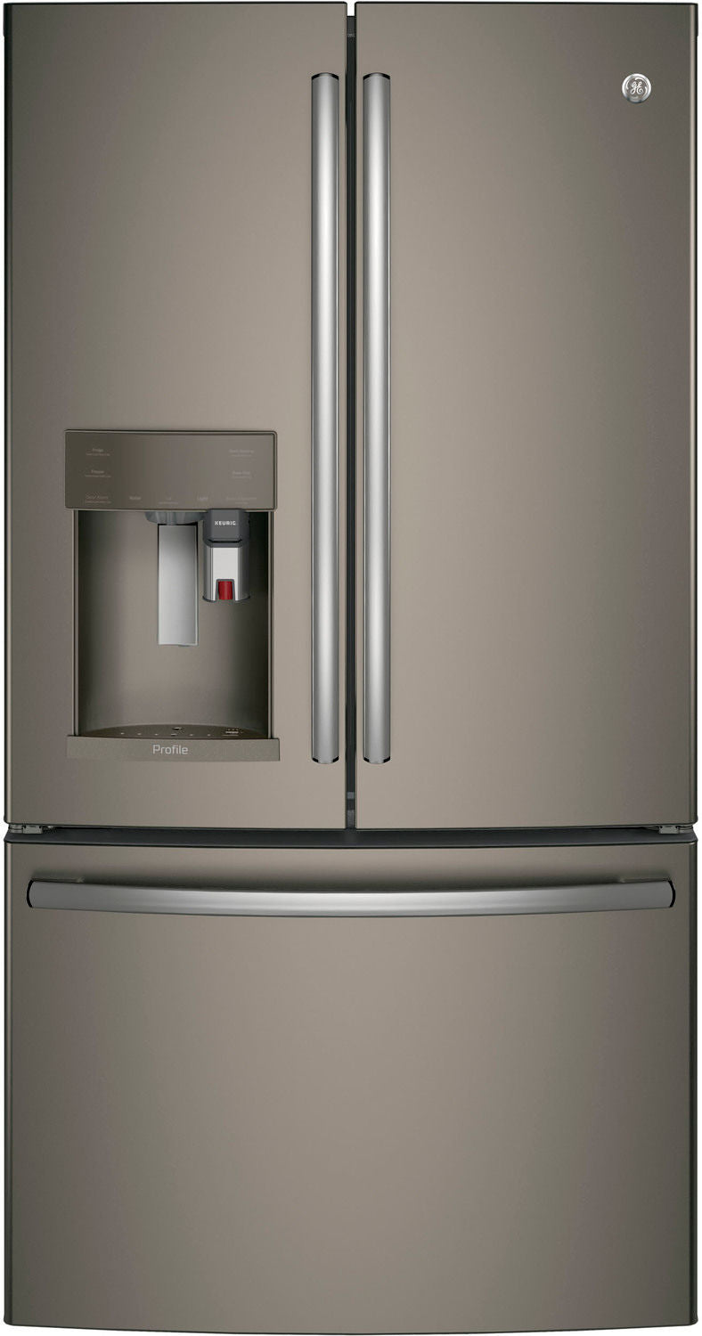 GE Profile Slate French Door Refrigerator (22.1 Cu. Ft.) - PYE22PMKES
