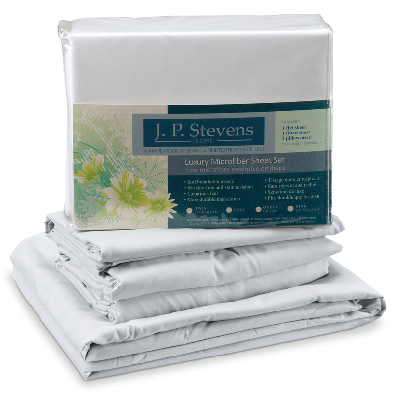 Acadia Full Sheet Set - White