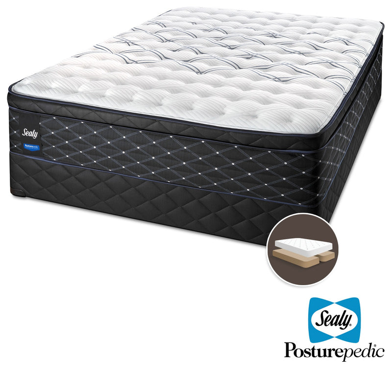 Sealy Entity Firm King Mattress and Split Boxspring Set