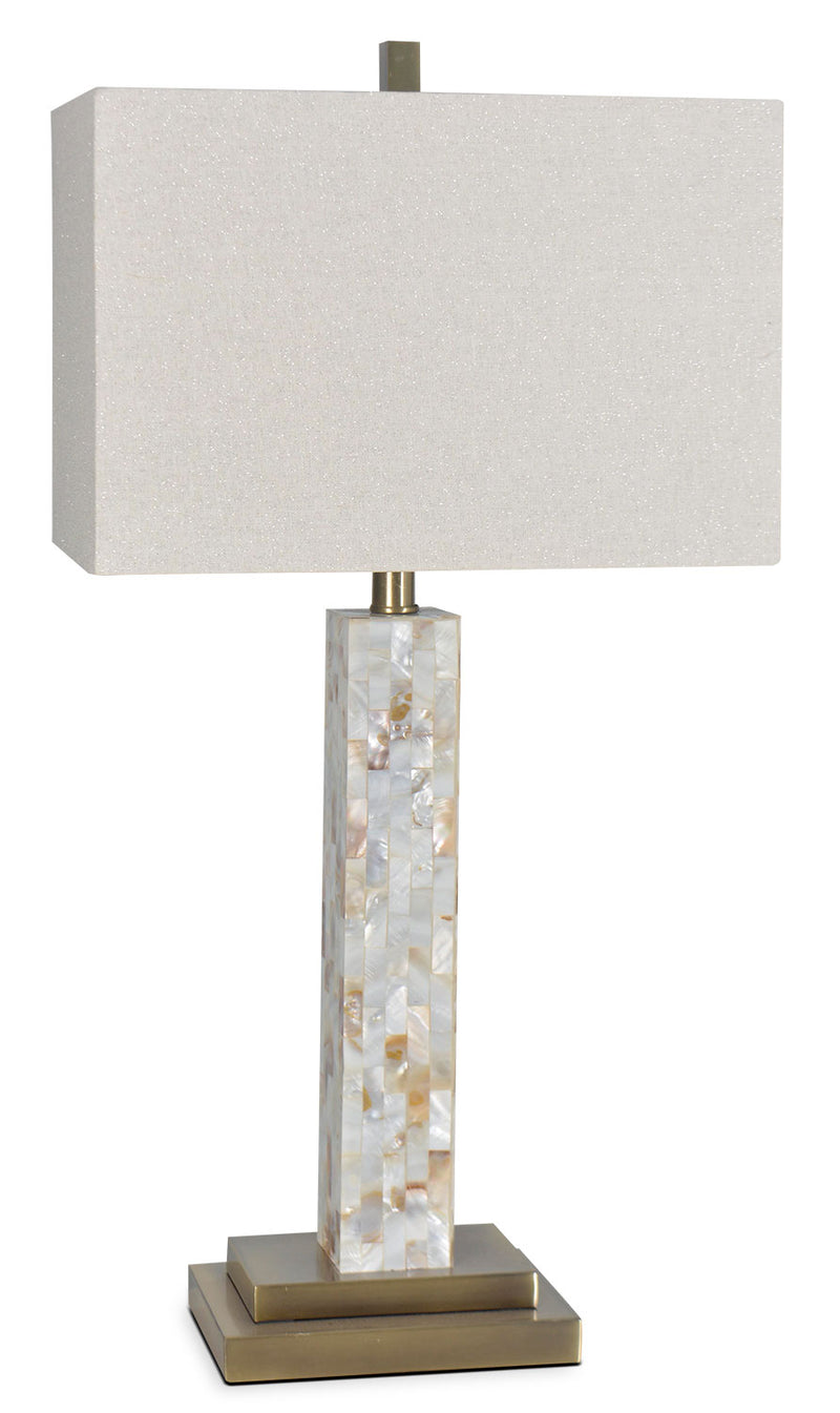 "Mother Of Pearl 27"" Table Lamp - Beige"