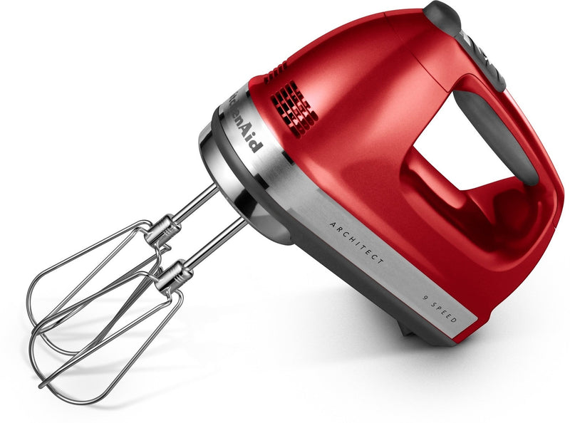 KitchenAid Candy Apple Red 9-Speed Architect Series Hand Mixer - KHM926ACA