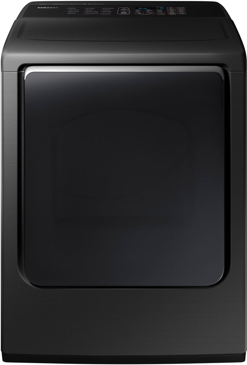 Samsung Black Stainless Steel Electric Dryer (7.4 Cu. Ft) - DVE54M8750V/AC