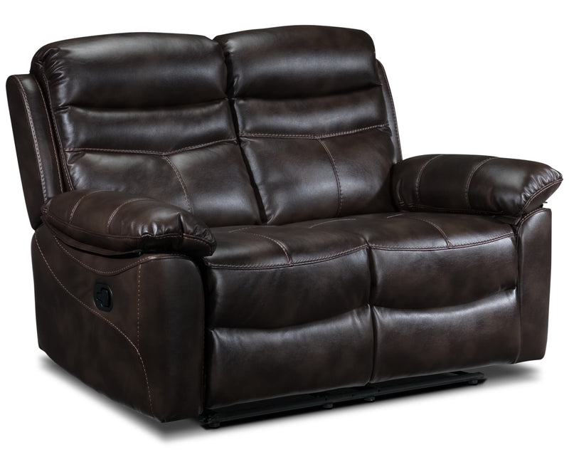 Devon Reclining Loveseat - Brown