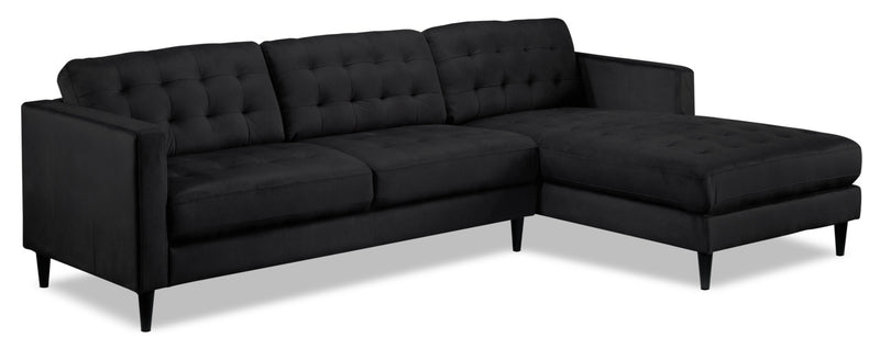 Paragon 2-Piece Sectional with Right-Facing Chaise - Charcoal