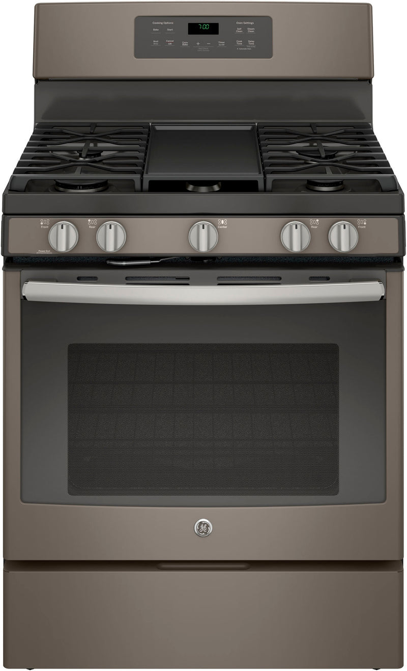 GE Slate Freestanding Gas Convection Range (5.0 Cu. Ft.) - JCGB700EEJES