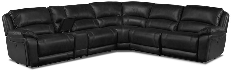 Santorini 6-Piece Power Reclining Sectional - Black