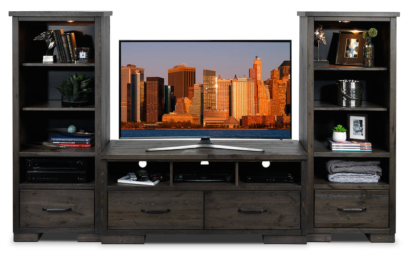 Hayden 3-Piece Entertainment Wall Unit - Slate