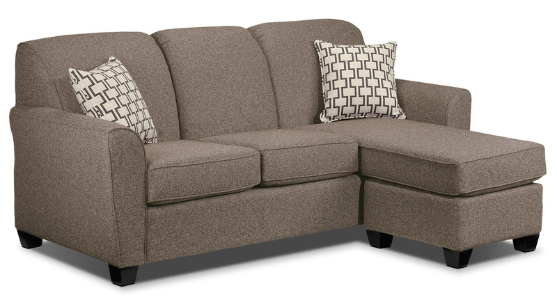 Ashby Chaise Sofa - Brown