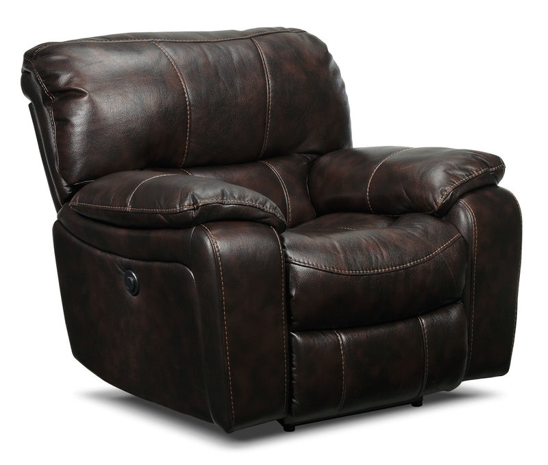 Santorini Power Recliner - Walnut