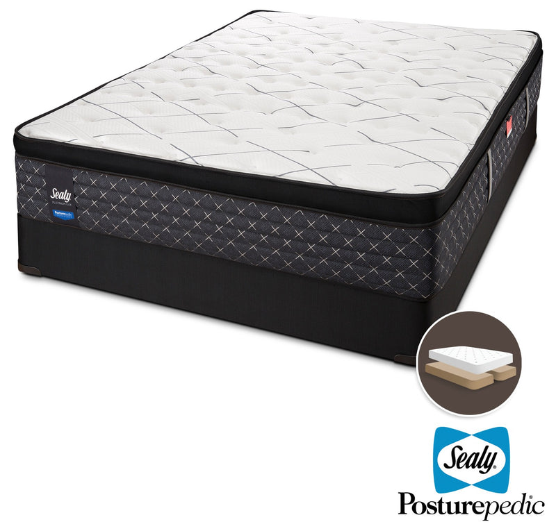 Sealy Ethos Plush King Mattress and Split Boxspring Set