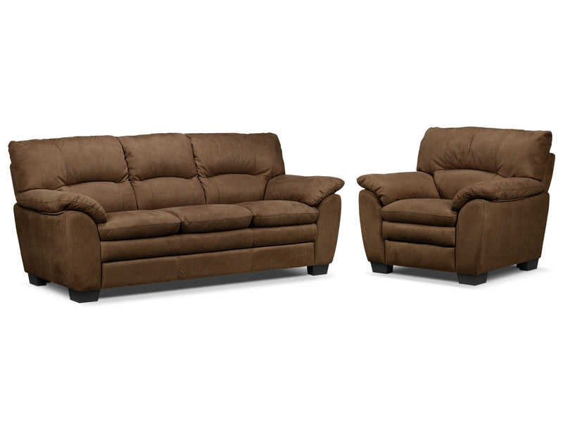 Kelleher Sofa and Chair Set - Hazelnut