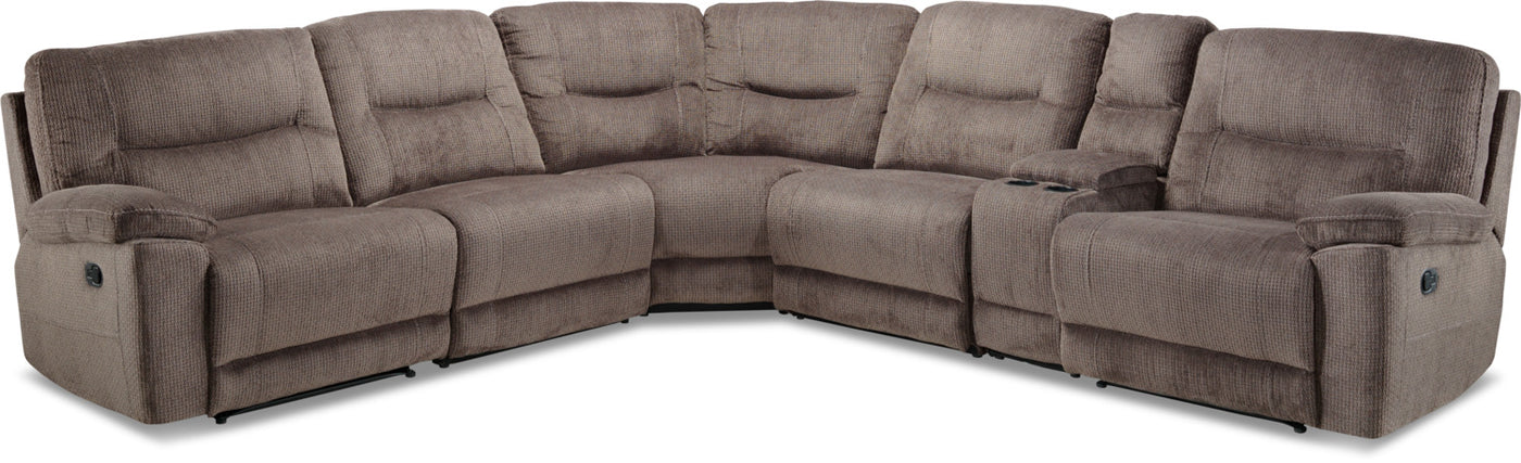 Groovy Colorado 6 Piece Reclining Sectional Grey Andrewgaddart Wooden Chair Designs For Living Room Andrewgaddartcom