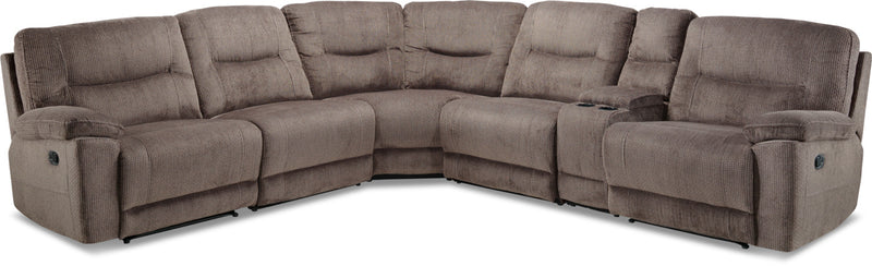 Colorado 6-Piece Reclining Sectional - Grey