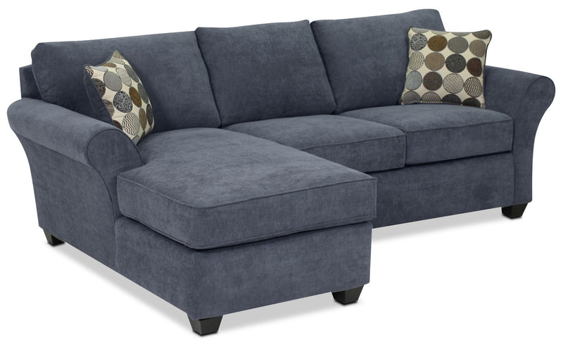 Althea 2-Piece Sectional with Left-Facing Chaise - Navy