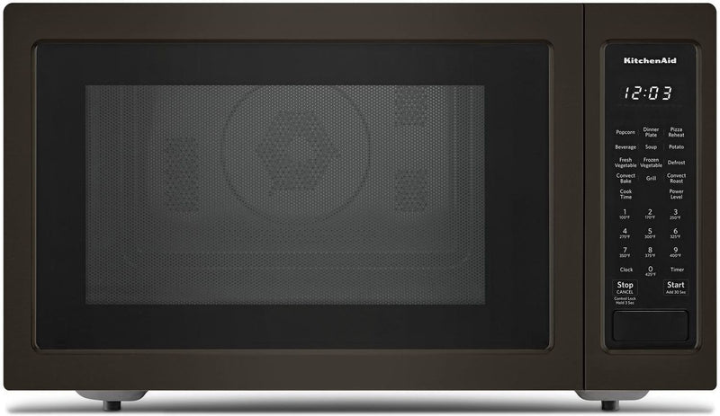 KitchenAid Black Stainless Steel Countertop Microwave (1.5 Cu. Ft.) - KMCC5015GBS