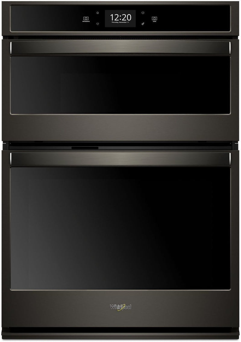 Whirlpool Black Stainless Steel Wall Oven (5 Cu. Ft.) w/ Microwave (1.4 Cu. Ft.) - WOC75EC0HV