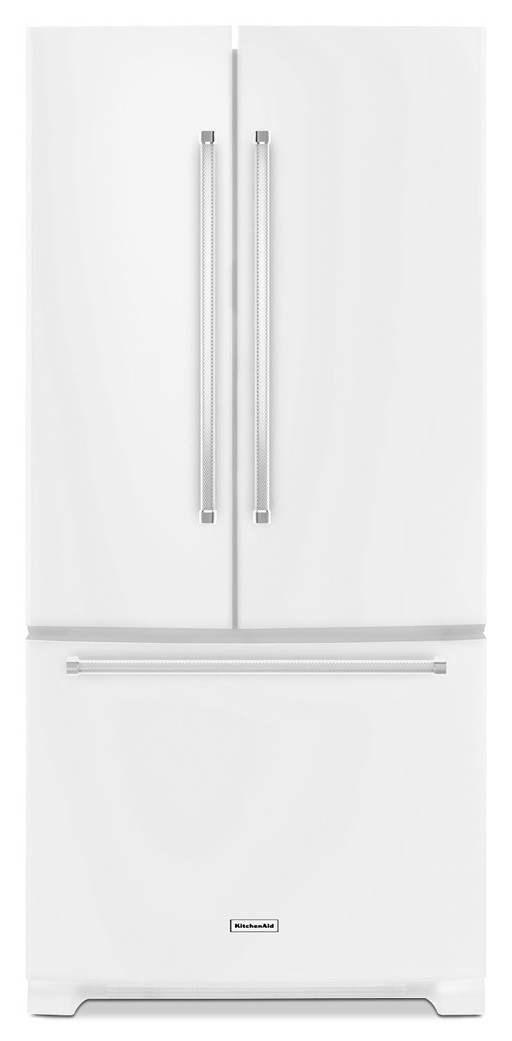 KitchenAid White French Door Refrigerator (22.1 Cu. Ft ... on built in refrigerators, lowe's stainless freezerless refrigerators, viking refrigerators, bosch refrigerators, general electric refrigerators, ge refrigerators, amana refrigerators, discount refrigerators, jenn-air refrigerators, miele refrigerators, kenmore refrigerators, whirlpool refrigerators, custom refrigerators, frigidaire refrigerators, liebherr refrigerators, lg refrigerators, sub zero refrigerators, maytag refrigerators, electrolux refrigerators, samsung refrigerators,