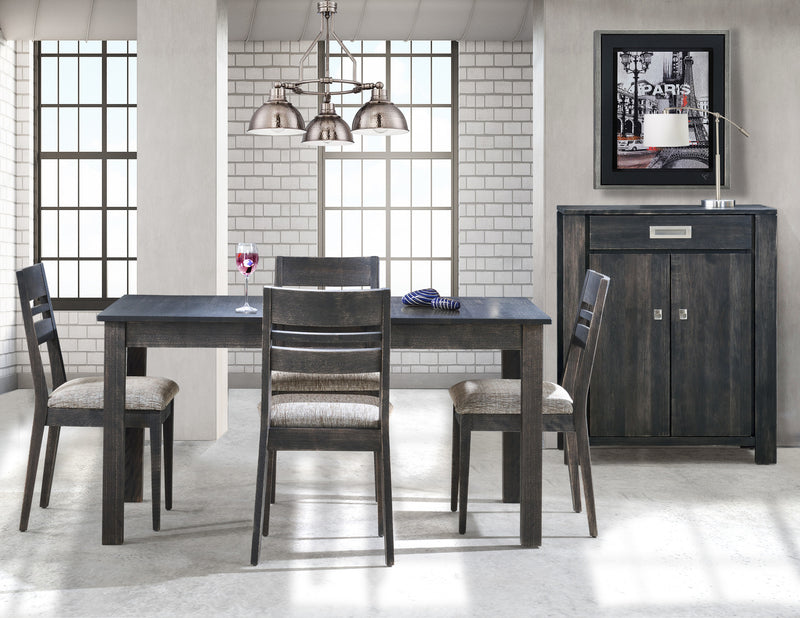 Sorel 7-Piece Dining Room Set with 2 Table Leaves - Slate