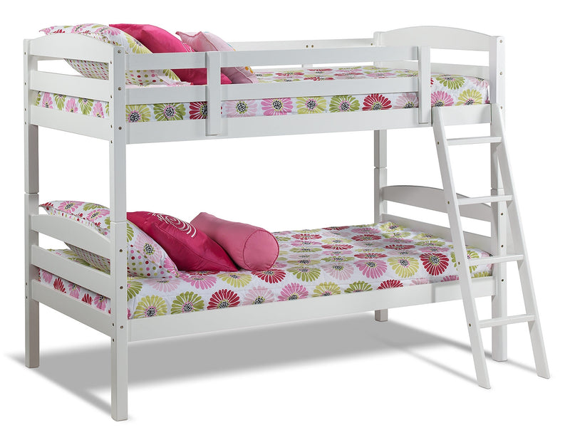 Charlie Twin Bunk Bed - White