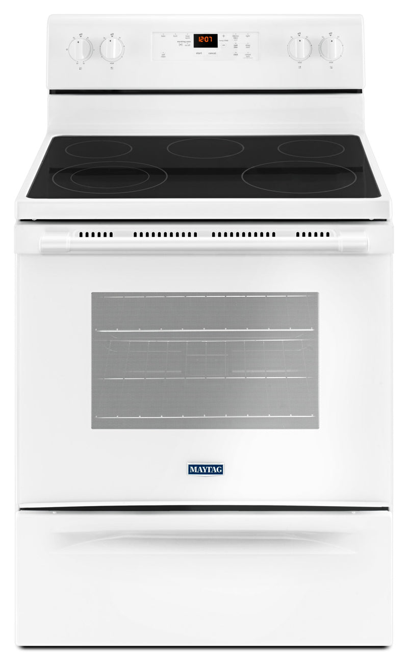 Maytag White Freestanding Electric Range (5.3 Cu. Ft.) - YMER6600FW