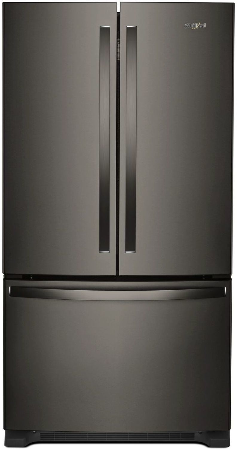 Image of Whirlpool Black Stainless Steel French Door Refrigerator (25 Cu. Ft.) - WRF535SWHV