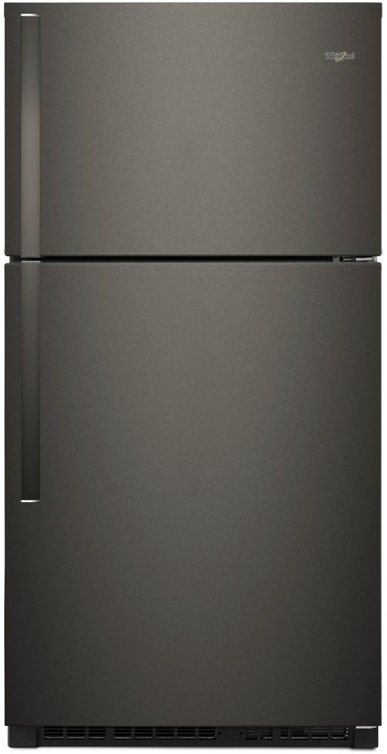 Whirlpool Black Stainless Steel Top-Freezer Refrigerator (21 Cu. Ft.) - WRT541SZHV