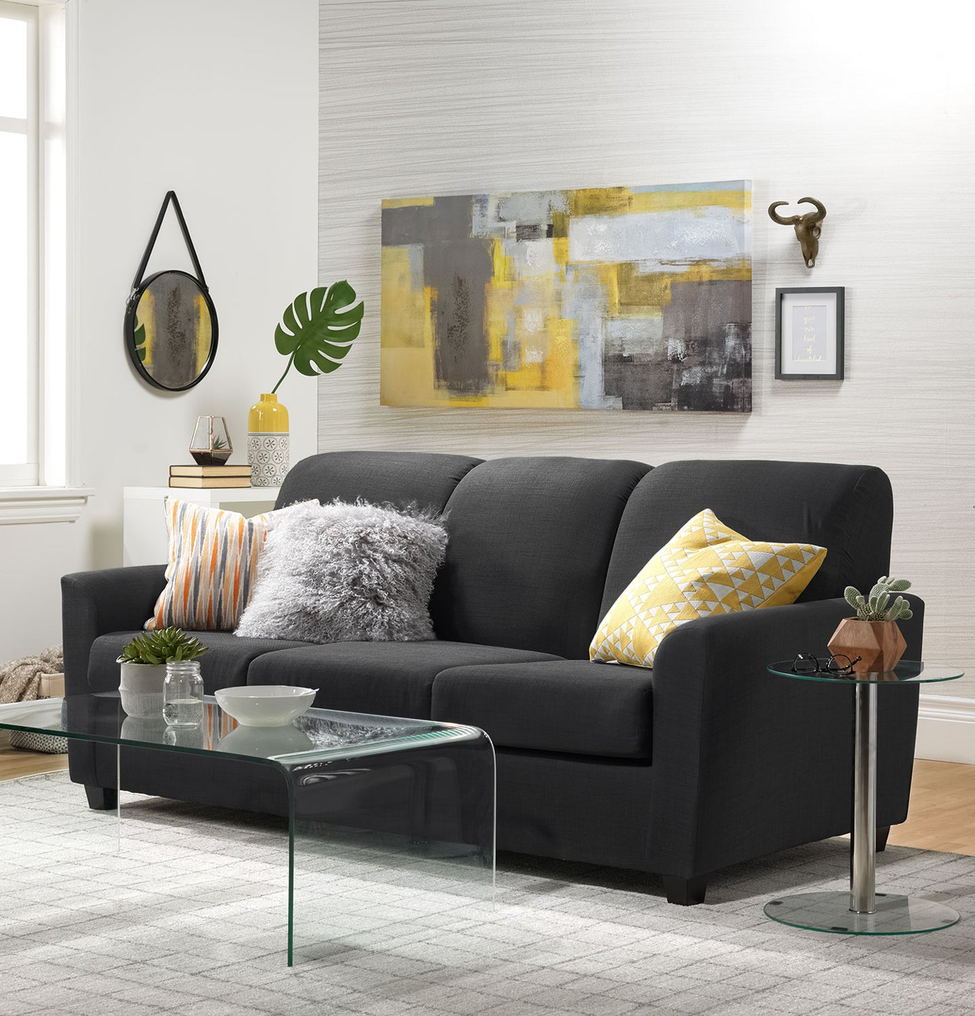 Amazing Roxanne Sofa Charcoal Gmtry Best Dining Table And Chair Ideas Images Gmtryco