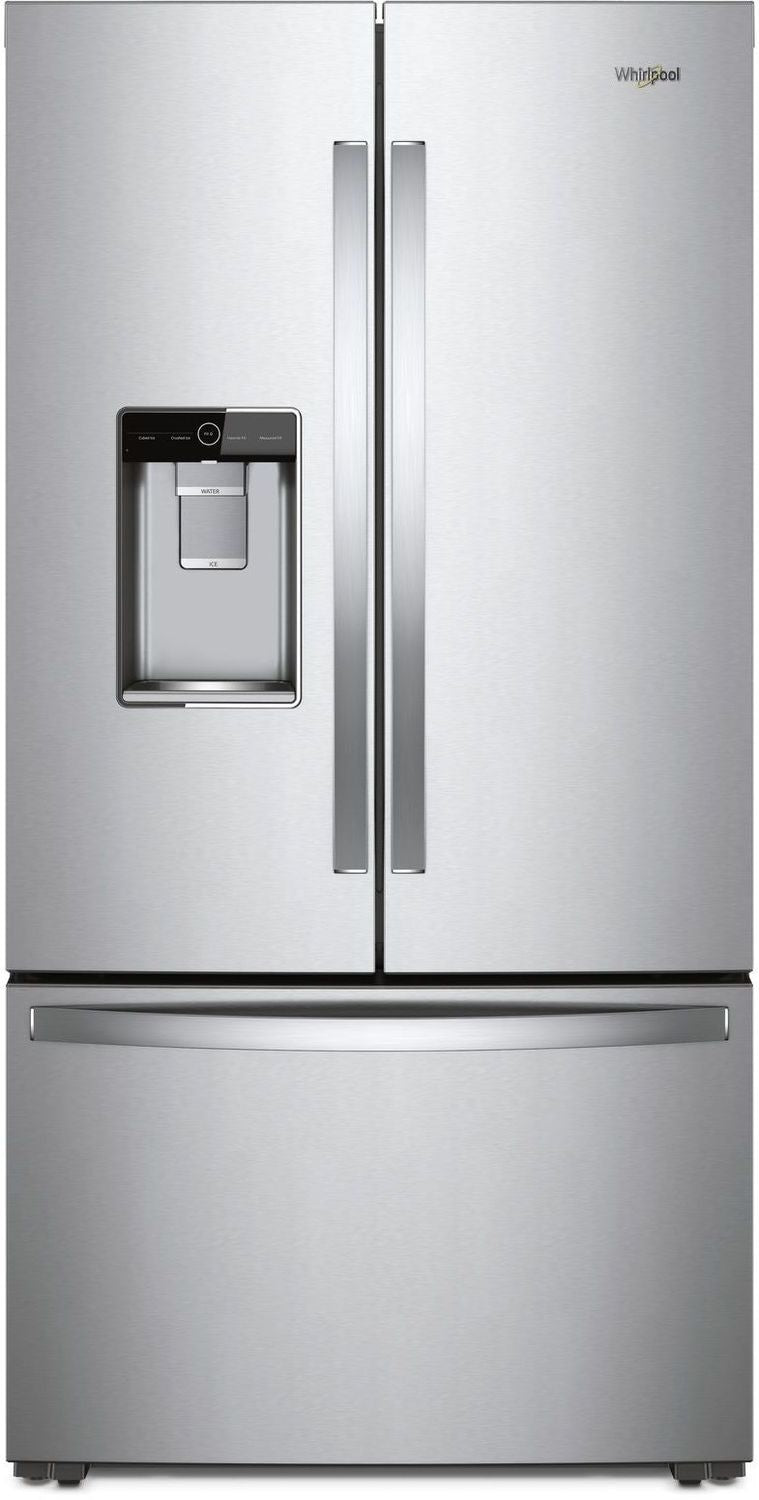 Whirlpool Stainless Steel Counter-Depth French Door Refrigerator (24 Cu. Ft.) - WRF954CIHZ