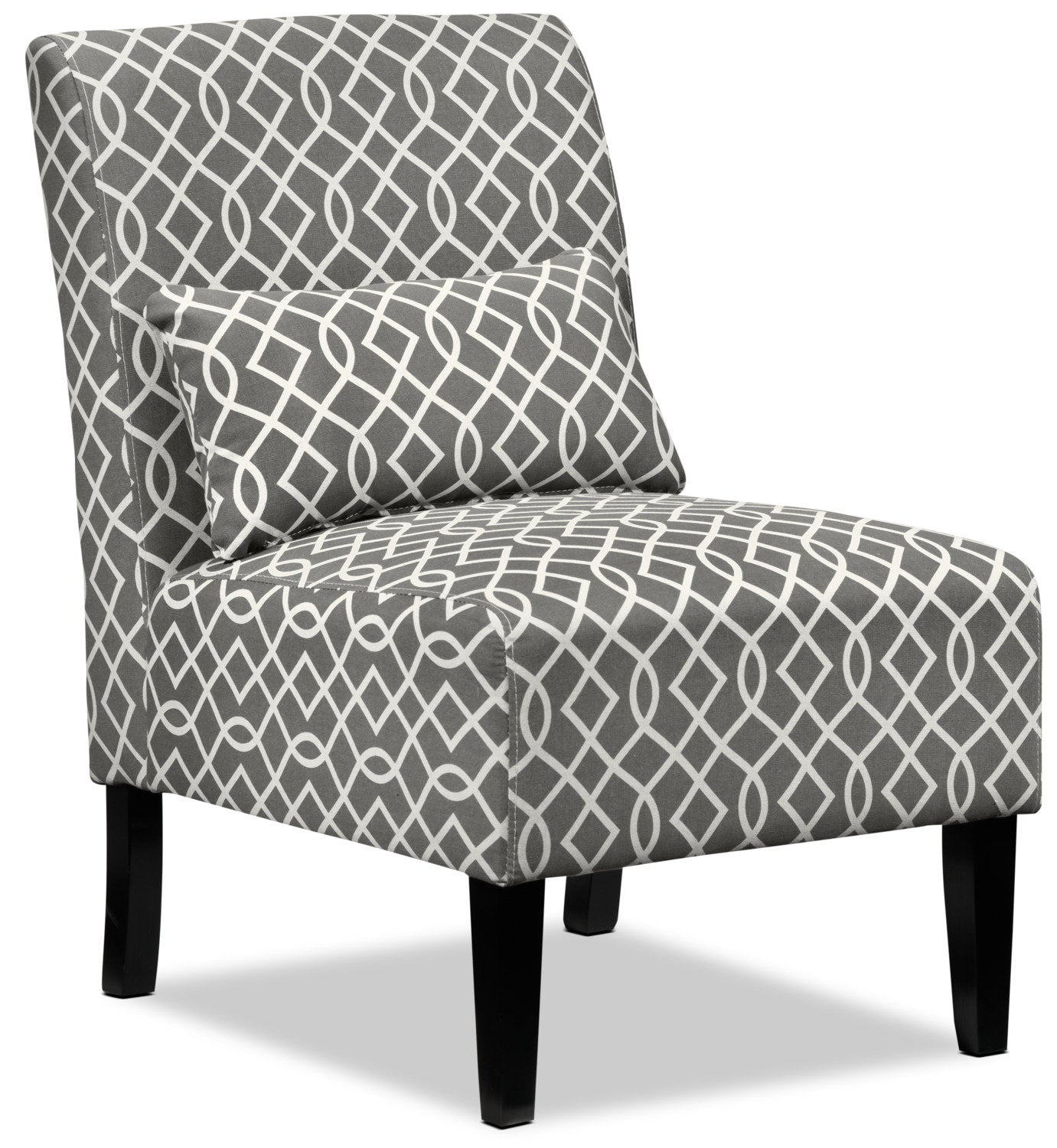 Accent Chairs.Santos Accent Chair Grey Lattice