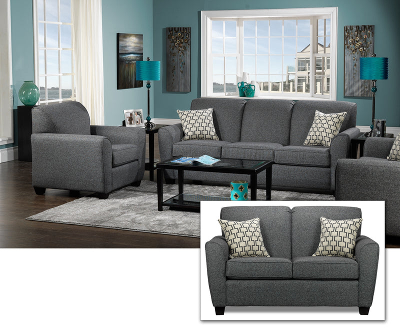Ashby 3 Pc. Living Room Package - Grey