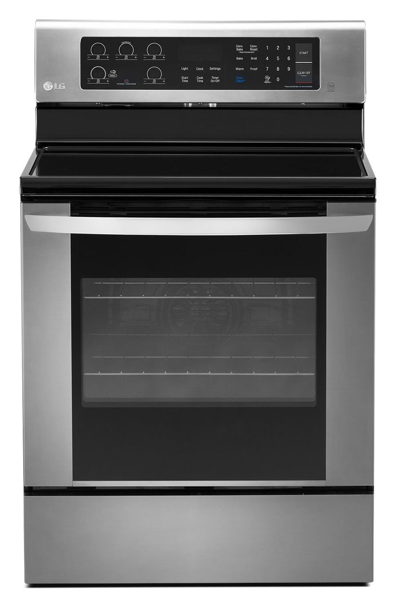 LG Stainless Steel Electric Convection Range (6.3 Cu. Ft.) - LRE3061ST