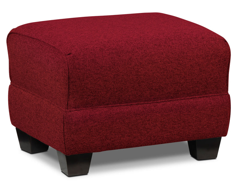 Ashby Ottoman - Red