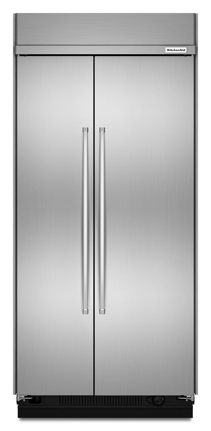 KitchenAid Stainless Steel Side-by-Side Refrigerator (25.5 Cu. Ft.) - KBSN602ESS
