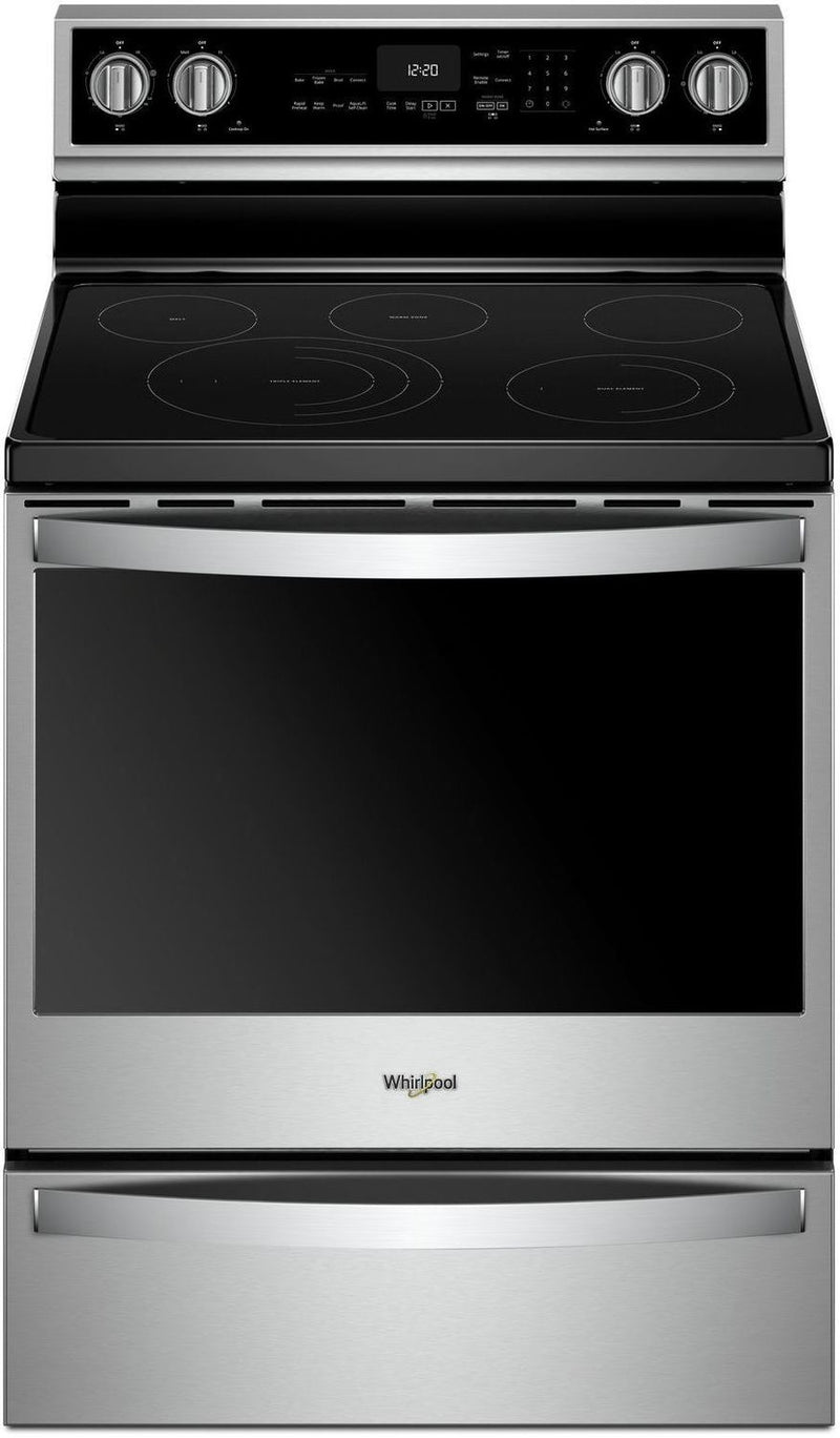 Whirlpool Stainless Steel Freestanding Electric True Convection Range (6.4 Cu. Ft.) - YWFE975H0HZ