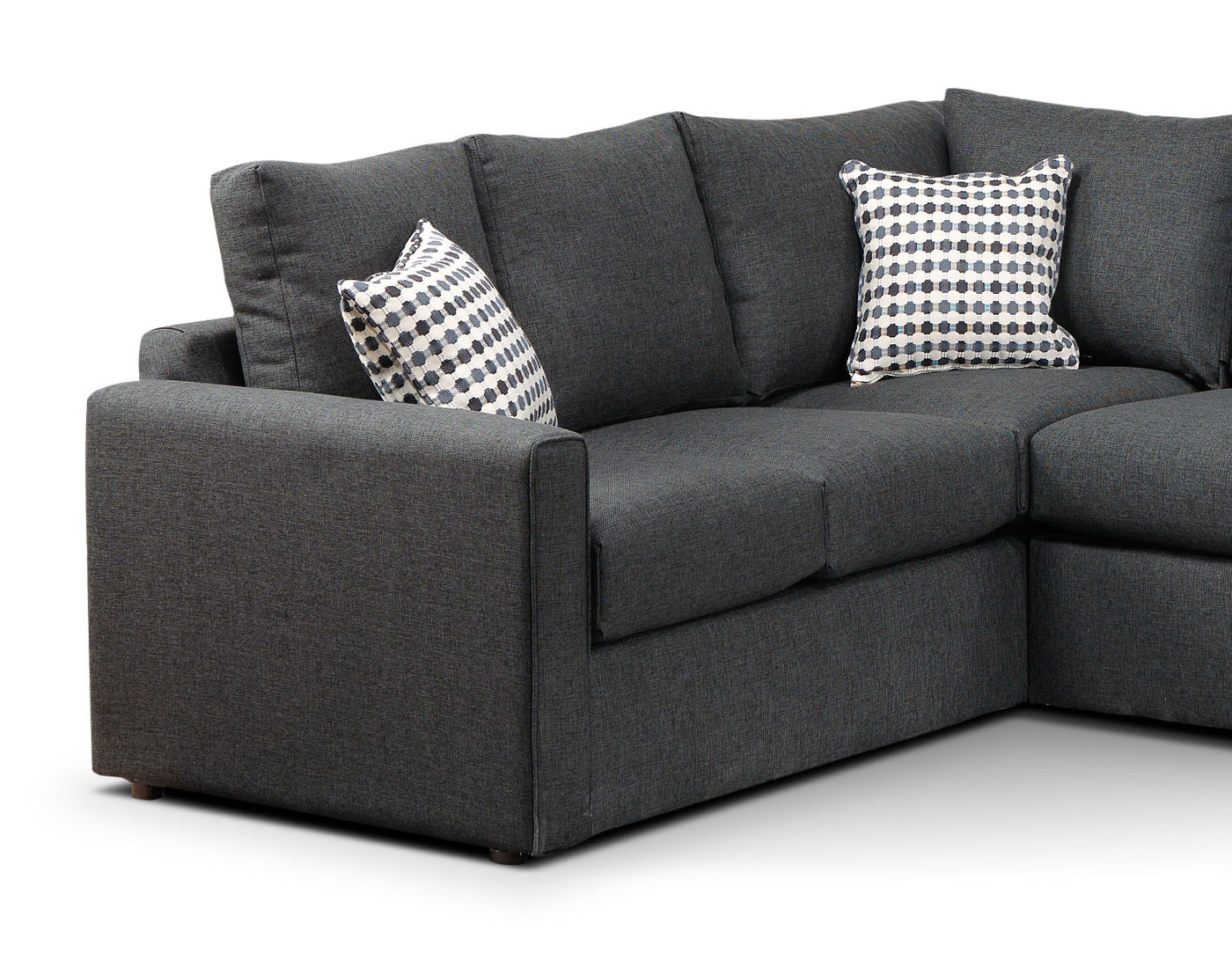 Picture of: Athina 2 Piece Sectional With Right Facing Queen Sofa Bed Charcoal Leon S